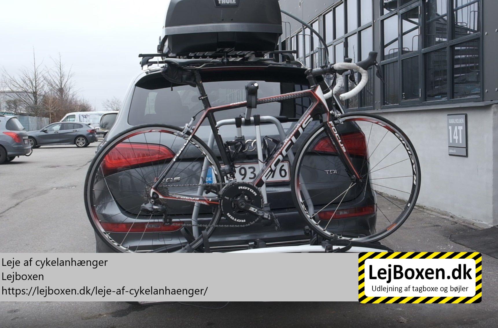 Leje af cykelanhænger